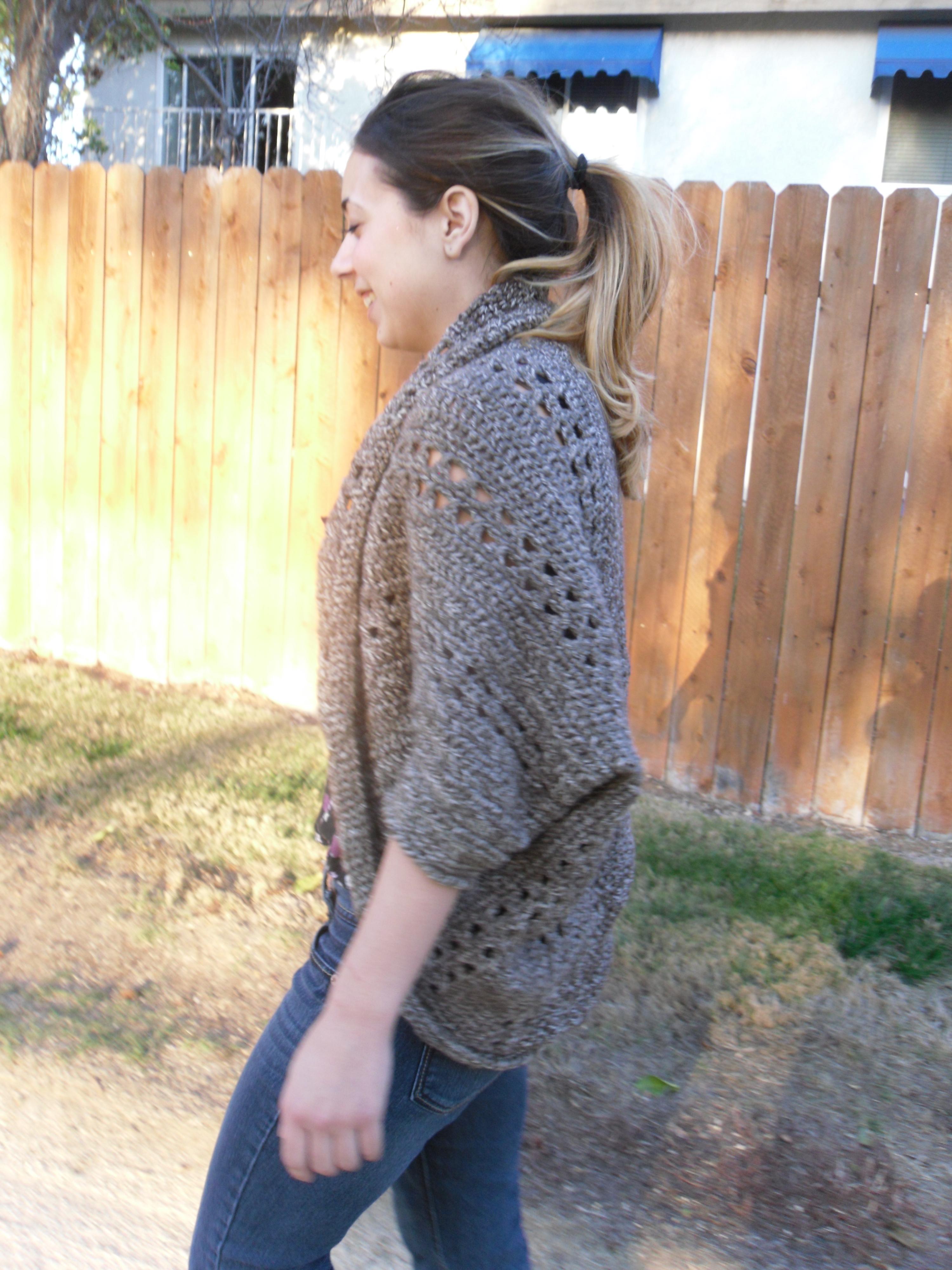 crochet x stitch shrug pattern the yarn yogi. Black Bedroom Furniture Sets. Home Design Ideas