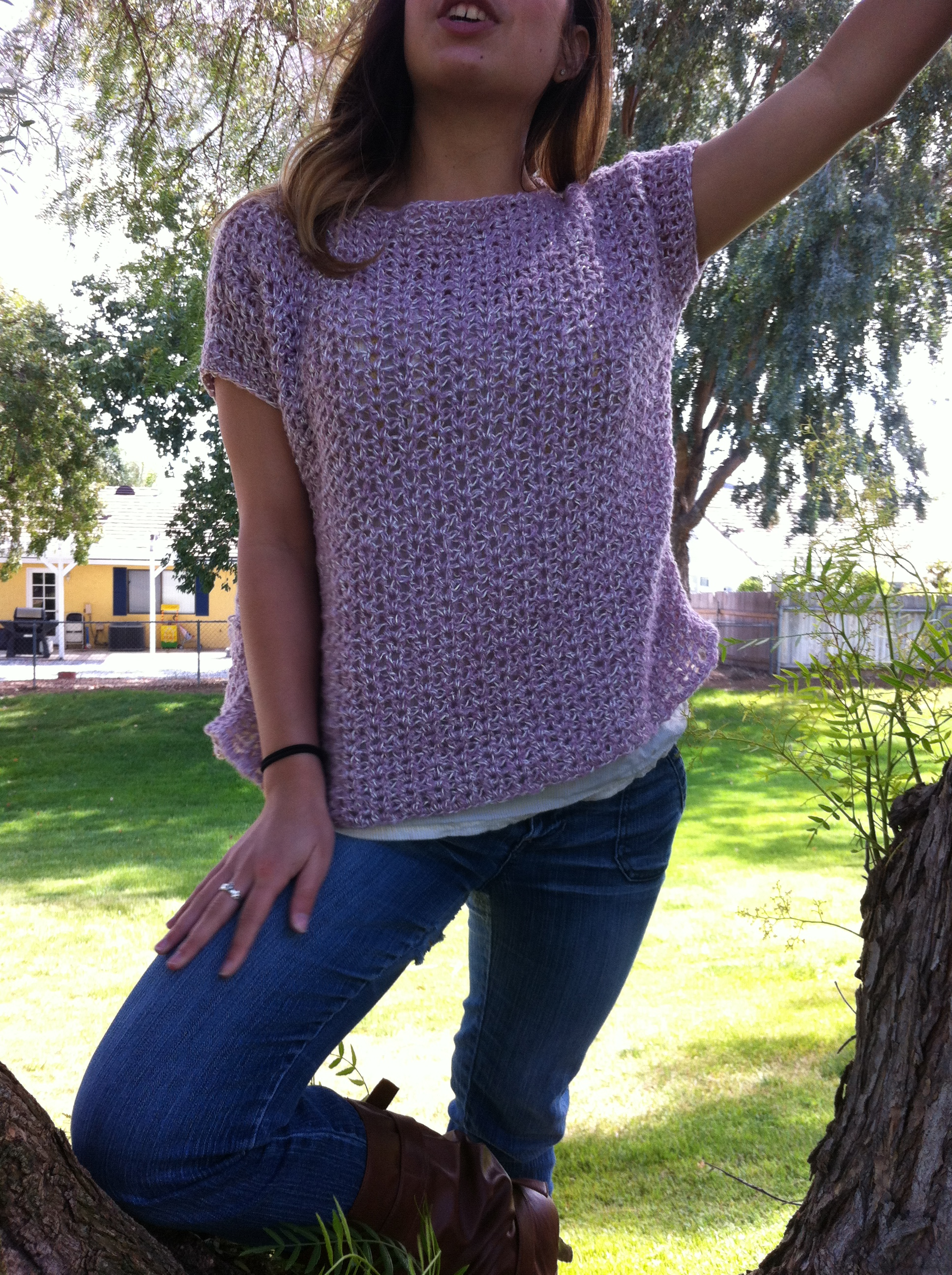 Beginner Crochet Top Patterns Free : CROCHET PATTERN Oversized Top/Sweater Easy/Beginner by ...