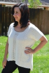 X-Stitch Shirttail Top