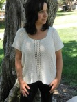 X-Stitch Shirtail Top